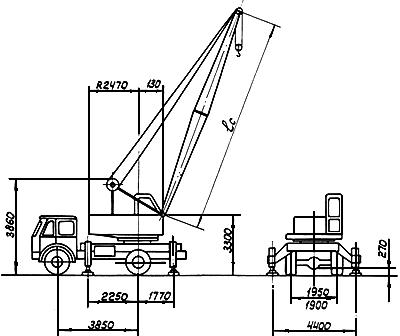 Схема автокрана смк 10