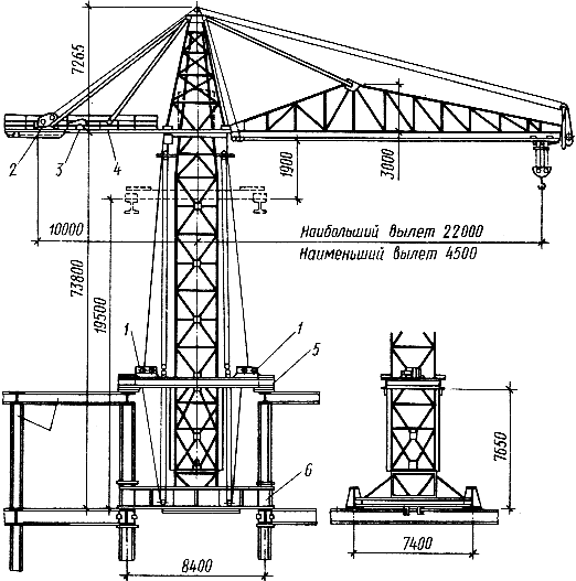 Самоподъемный башенный кран