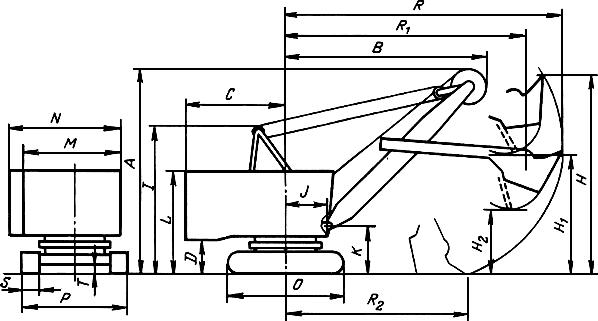 размеры экскаватора ЭКГ-5А
