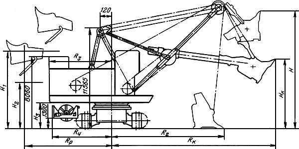 Схема рабочих размеров
