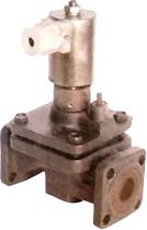 15кч835р; 15кч835р1Клапан мембранный типа СКМОГ01 с электромагнитным приводом фланцевый из ковкого чугуна