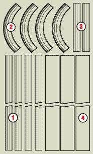 Арка классическая, полукруглая Романская из MDF, дуба, березы
