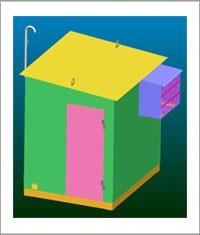 Блок-контейнеры телекоммуникационные