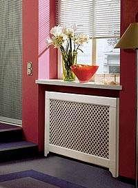 Экран для радиаторов Контур с ротанговым полотном и перфорированным HDF