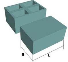 Блоки шлакоблочные, керамзитные, вибропрессованные