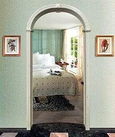 Арка романская Ахен классическая, из шпона, дуба, красного дерева, MDF