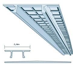Панель легкая железобетонная для перекрытий с гребнем