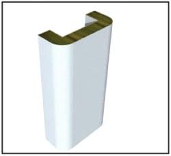 Вертикальная угловая сэндвич панель ПСБУ-ПВ