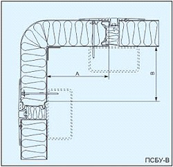 Вертикальная угловая сэндвич панель ПСБУ-В