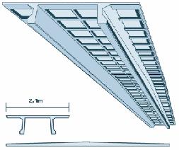 Панель легкая для перекрытий с гребнем (НТТ)