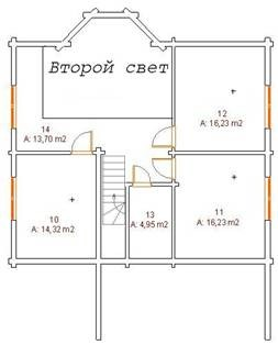 Проект дома из клееного бруса A193-200