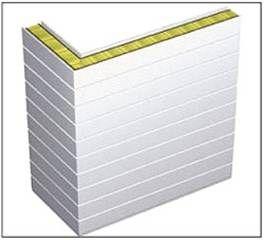 Вертикальная угловая сэндвич панель ПСБУ-Г