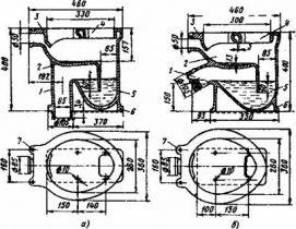 ТТК. Установка и присоединение унитаза к системе канализации с помощью резинового манжета