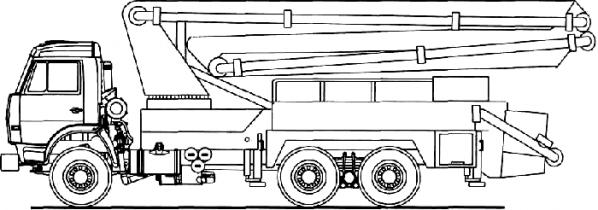 АВТОБЕТОНОНАСОС 581532 (АБН 75/32) (ШАССИ КАМАЗ-53229 6X4)