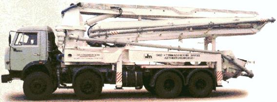 АВТОБЕТОНОНАСОС АБН-75/37 (ШАССИ КАМАЗ-6540 8X4)