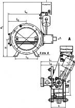 ПТ 96005 Клапан поворотный отсечной стальной