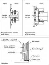 Система фасадная SGG MEGATEC с креплениями и прослойкой PVB