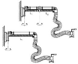 Устройства с гибким воздуховодом Спрут