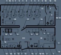 Здание мобильное жилое типа Альтаир с кухнeй-столовой на 8 человек