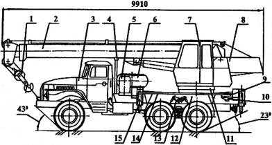 АВТОМОБИЛЬНЫЙ КРАН КС-3574