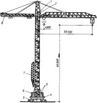 Башенный кран КБ-674