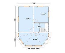 Дом из бруса Боровик 7х8, 96м2