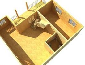 Дом из бруса Ермак1 6х9 с верандой 91,8м2