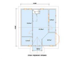 Дом из бруса Невский 6х8, 92,62м2