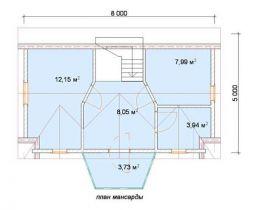 Дом из бруса Рига 6х8, 101м2