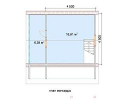 Дом из бруса Селигер 6х6, 64м2
