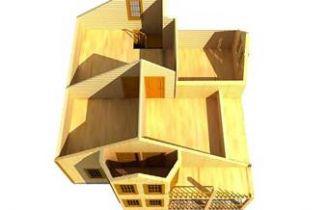 Дом из бруса Волжский 8х9, 124,46м2