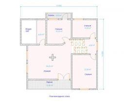 Дом загородный Бавария 12х11