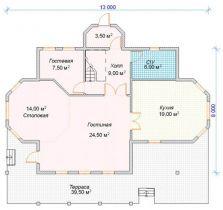 Дом загородный Ханой 13х8