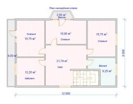 Дом загородный Лотос 12х8
