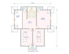 Дом загородный Осло 11,5х11,5