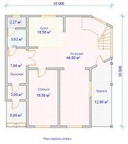 Дом загородный Викинг 11,5х10