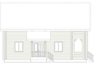 Дома бревенчатые Проект А 31