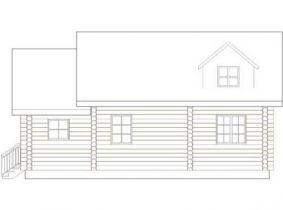 Дома бревенчатые Проект Б 13