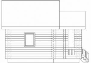 Дома бревенчатые Проект Б 14
