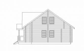 Дома бревенчатые Проект Б 21