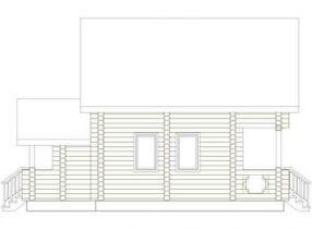 Дома бревенчатые Проект Б 22