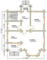 Дома бревенчатые Проект Б 23