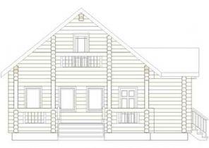 Дома бревенчатые Проект Б 24