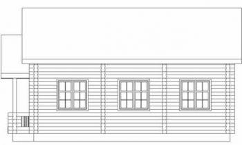Дома бревенчатые Проект Б 25