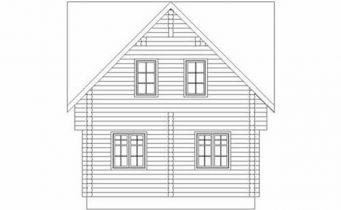 Дома бревенчатые Проект Б 26