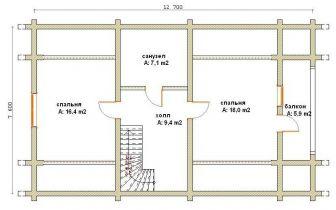 Дома бревенчатые Проект Б 27