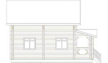 Дома бревенчатые Проект Б 30