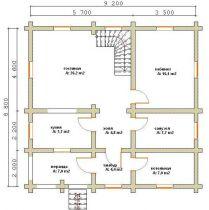 Дома бревенчатые Проект Б 31
