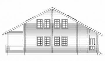Дома бревенчатые Проект Б 32