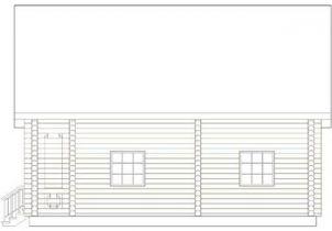 Дома бревенчатые Проект Б 33